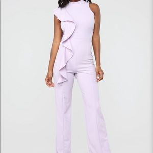 Fashion Nova Lilac Jumpsuit